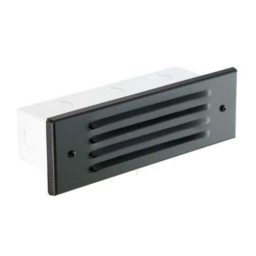 Focus Industries SL-04-BLT 12V 36W Stamped Aluminum Four Louver Brick Step Light - Black Texture