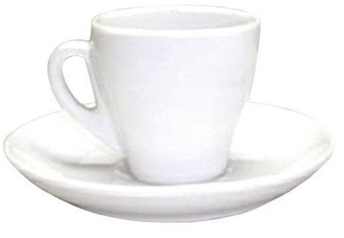 Set of 8 Espresso Cup in White Porcelain, 2 Oz UNKN