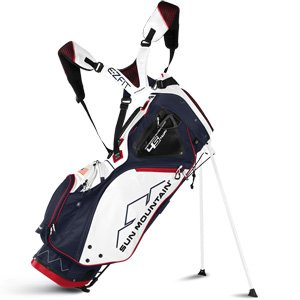 Sun Mountain Golf 2018 4.5 14-Way Stand Golf Bag NAVY-WHITE-RED (Navy/White/Red)