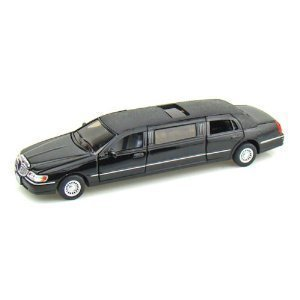 kinsmart-1-38-scale-diecast-1999-lincoln-town-car-stretch-limousine-in-color-black-by-kinsmart