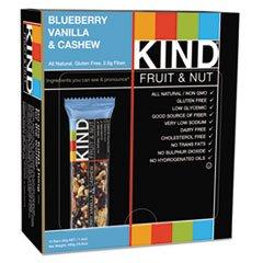 Kind 18039 Fruit & Nut Bars44; Blueberry Vanilla & Cashew44; 1.4 oz.