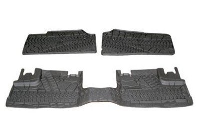 2007-2013 Jeep Wrangler 4Door Front and Rear Slush Mats-3 Piece Set OEM (Jeep Wrangler 4 Piece)
