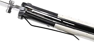 CRKT M4-02 EDC Folding Pocket Knife: Assisted Opening Everyday Carry, Satin Blade, Thumb Stud, Locking Liner, G10 Bolster, White Bone Handle, Pocket Clip (Color: Bone/Black, Tamaño: One Size)