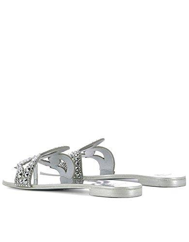 E70026002 Sandalias Plata Mujer Design Giuseppe Cuero Zanotti qRYUAwxUto