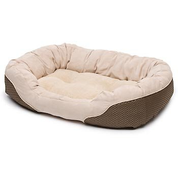 Petco Diamond Tufted Olive and Tan Lounger Dog Bed, My Pet Supplies