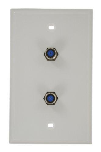Leviton 80782-W Standard Video Wall Jack, F X F, White (Standard Video Wall Jack)