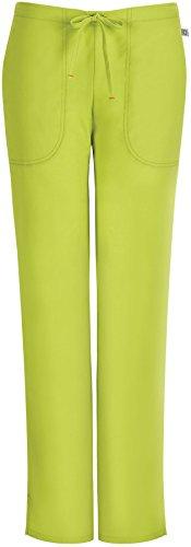 code happy Women's Mid-Rise Flare Leg Drawstring Scrub Pant Large Palm (Four Pocket Flare Leg Scrub)