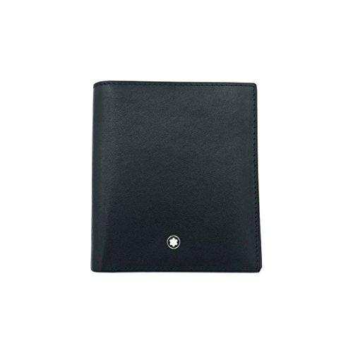 - Μοntblаnc Black Men's Leather Folding Wallet 6Cc