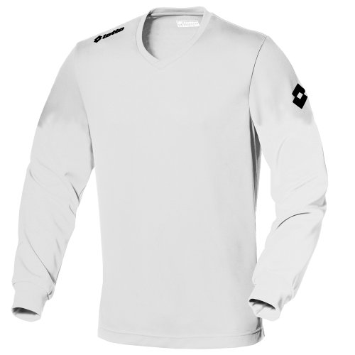 Lotto Mens Football Jersey Long Sleeve Team Evo Sports V Shirt (L) (White)