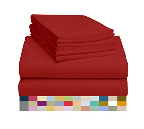 LuxClub 6 PC Sheet Set Bamboo Sheets Deep Pockets 18