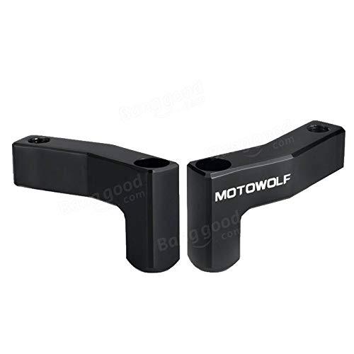 Motowolf M10 Motorradspiegel-Verl/ängerungsb/ügel 10 mm Schwarz
