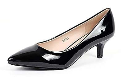 Cull4U Women's Formal Tuesday Pumps Shoes (5 M US,Black Patent)