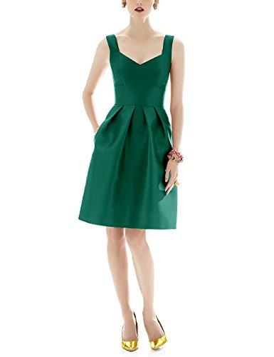 mit 36 Ausschnitt Aiyana Kurz Kleid Satin Rueckenfrei V Abendkleid Burgund Taschen Elegantes qwv48