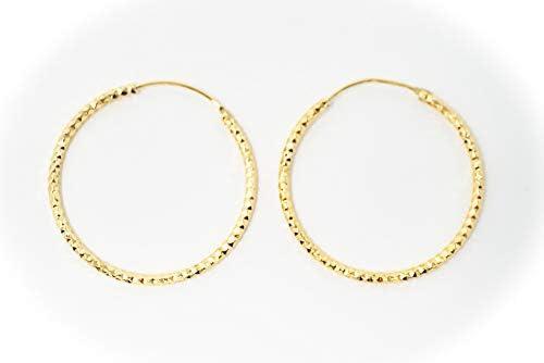 EVHjewelry.com 18k Gold-Plated 1.75mm Wavy Bangle Bracelet Size 8