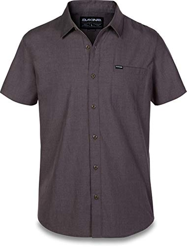 Dakine 10001610 Men's Kain Short Sleeve Woven Shirt, Asphalt - L