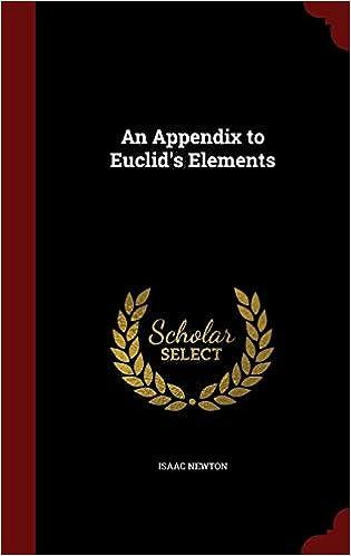 An Appendix to Euclid's Elements: Amazon co uk: Isaac Newton