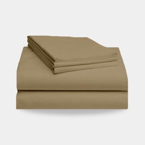 1800 Split California King Bed Sheet Set (Tan)