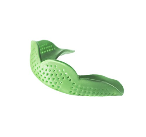 SISU Mouth Guards Aero 1.6mm Custom Fit Sports Mouthguard for Youth/Adults, Original, Spring Green ()