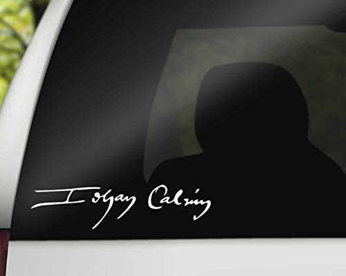 CELYCASY John Calvin Signature Car Decal, Reformed Theology