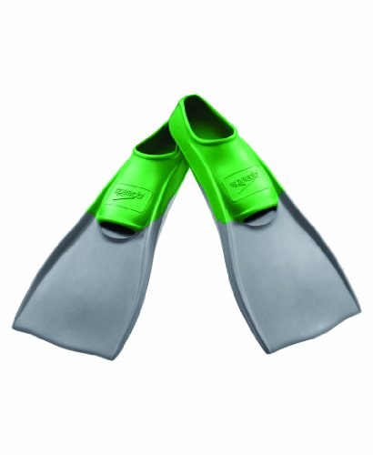 Speedo Rubber Swim Fins, Small, Green