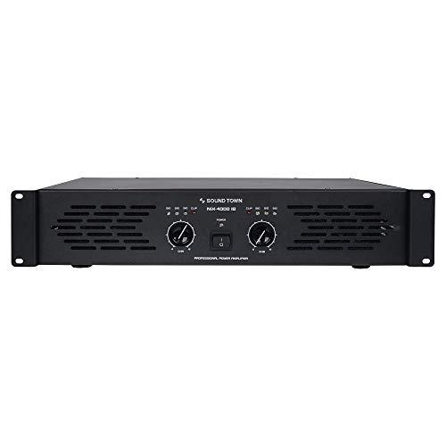 Sound Town Professional Dual-Channel, 2 x 1000W at 4-ohm, 4000W Peak Output Power Amplifier (NIX-4000IB) (4,000w Power Amplifier)