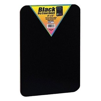 FLP40065 - BLACK DRY ERASE BOARDS 9 X 12]()