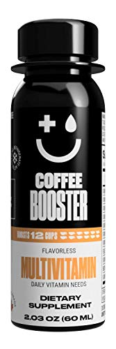 Coffee Booster MULTIVITAMIN for Daily Vitamin Needs – Liquid Supplement Additive for Coffee, Tea, Smoothies & Other Beverages, 2oz