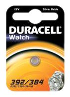 Duracell 75072549, Pila Speciale Orologi 392/384 Piccolo Blister x1 Duracell 392/384