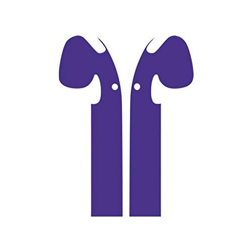 ❤Lemoning❤Protector Wraps Minimal Stylish Case Cover Skins Customization for Apple AirPods (Purple)