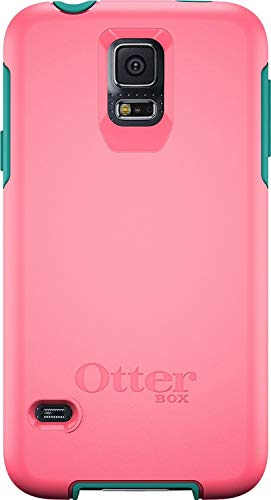Otterbox Symmetry Series for Samsung Galaxy S5 - Retail Packaging - Teal Rose (Blaze Pink/Light Teal )