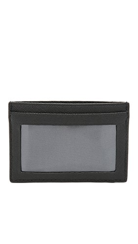 Jack Spade Jack Barrow Spade Black Leather Wallet ID Men's 5wH1Tw