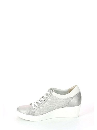 Stampata Tessuto Beige Curi Z50 3285 Sneakers Argento Taupe Grunland B04YTqY