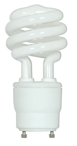 Satco S8207 26 Watt (120 Watt) 1750 Lumens Mini Spiral CFL Soft White 2700K GU24 Base Light Bulb -