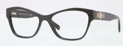 Versace Eyeglasses VE 3180 BLACK GB1 - Cat Eye Versace Glasses