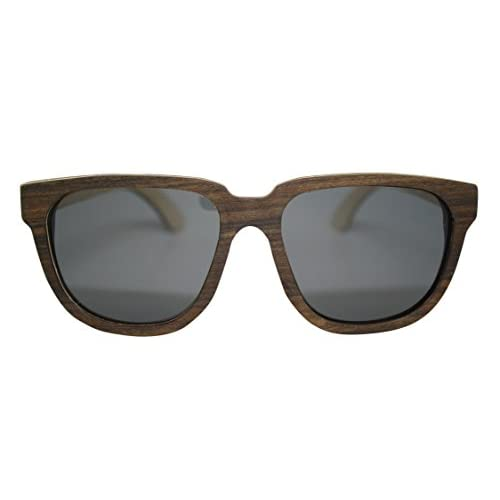 Gowood Wood Sunglasses Milan Brown Frame Grey Lens Oversized 54mm Polarized Well Wreapped Transport Michalik Pl