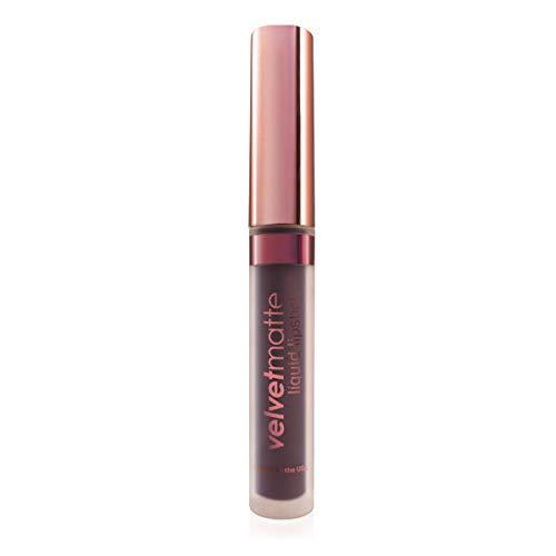 LA Splash Cosmetics Waterproof Liquid to Matte Lipstick - VelvetMatte The Moisturizing Collection (Black Tie Cupcakes)