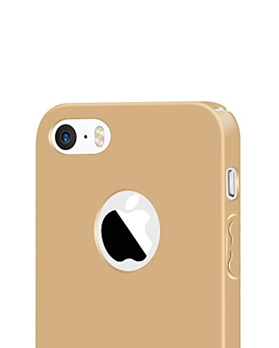 iPhone5 Funda ,iPhone 5S Funda,iPhone SE Funda,color sólido,estilo sencillo,Alta Calidad Ultra Slim Anti-Rasguño y Resistente Huellas Dactilares Totalmente Protectora Caso de Plástico Duro Cover Case+ A