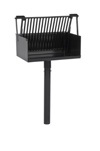 (Park Grill, Charcoal burning, In-ground mounted, Includes: fire box, grill, 15