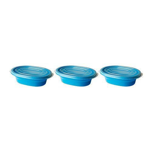 Rata Blue Storage Containers, Set of Three, with Lids