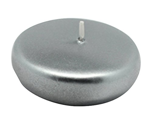 Zest Candle CFZ-044_4 96-Piece Floating Candle, 2.25'', Metallic Silver