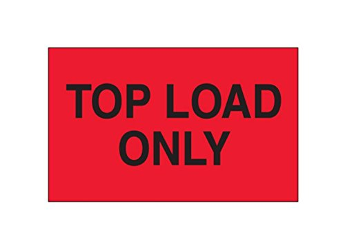 RetailSource DL2681x1 3 x 5 -Top Load Only, (Fluorescent Red) Labels, 3.25' Height, 5.75' Length, 5.75' Width (Pack of 500) 3.25 Height 5.75 Length 5.75 Width (Pack of 500) RetailSource Ltd