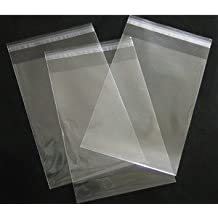 4in. X 6in. Flat Cellophane Bags with Adhesive Closure - pack of 100