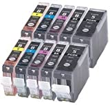 10 Pack compatible Ink PGI-5BK, CLI