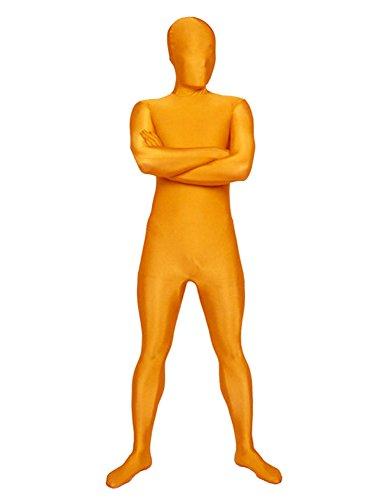 SecondSkin Men's Full Body Spandex/Lycra Suit, Orange, - Suit Lycra Men