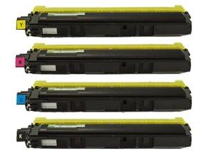 Brother TN210 Compatible Toner Cartridge Value Bundle (K,C,M,Y) For HL-3040/30070, MFC-9010/9120/9320, Office Central