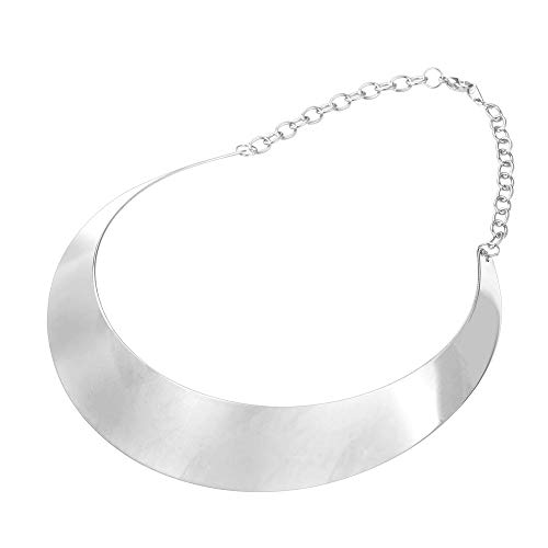 U7 Women Simple Style Torque Necklace Stainless Steel Choker Bib Necklaces Statement - Stainless Choker Steel