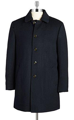 RALPH LAUREN Men's 3/4 Classic-Fit Down-Filled Wool Overcoat (38 Regular, Black)