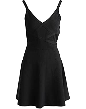 Guess Women's Double Strap Fit And Flare Bandage Dress