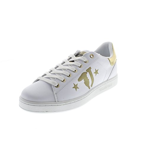 Trussardi Jeans 79S700 Sneakers Mujer White/Gold