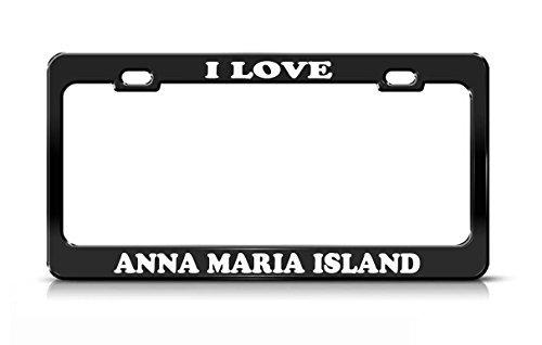 I LOVE ANNA MARIA ISLAND Florida Black Metal license Plate (Anna Vanity)